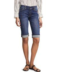 Hudson Jeans Amelia Cuffed Knee Shorts - Blue