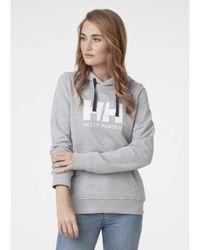 Helly Hansen HH Logo Pullover Hooded French Terry Sweatshirt Maglia di Tuta - Grigio