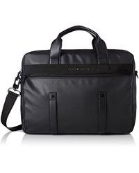 Tommy Hilfiger Th Coated Computer Bag Tasche - Schwarz