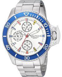 Nautica Analog Quarz Uhr mit Silikon Armband NAPMIA008 - Blau