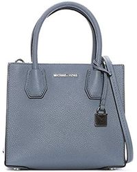 b43dd7ad52e81 Michael Kors Mercer Medium Oyster Leather Messenger Bag in Natural ...