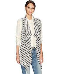 Jones New York - Striped Tape Sweater Vest - Lyst