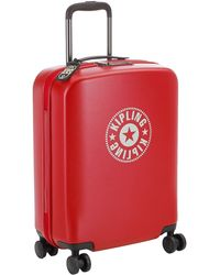 Kipling Curiosity Small 4 Wheeled Rolling Luggage Lively Red