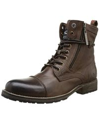 Pepe Jeans S Melting Zipper Boots - Brown