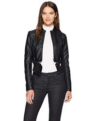 French Connection Sandra Pu Leather Jacket