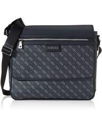 Guess Dan Logo Messenger Briefcase - Black