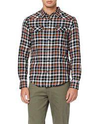Wrangler Ls Western Shirt Slim Fit Casual Shirt - Black