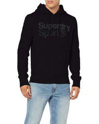 Superdry Core Sport Overhead Sweat-Shirt À Capuche - Noir