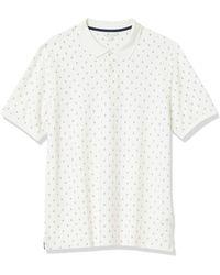 Amazon Essentials Polo en Coton piqué Coupe Droite Shirts - Blanc