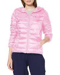 half off acc54 72222 Donna Quilted Zip Thru Giacca - Rosa