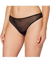 Women'secret - , Camisón corto de encaje con lazos de chiffon para Mujer, Negro, XL - Lyst