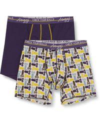 Sloggi Start Movember Short C2p Underwear - Blue