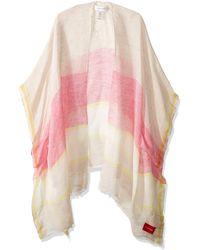 Calvin Klein Striped Border Beach Shawl Swimwear Cover-up - Pink