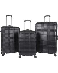 "Ben Sherman Luggage Nottingham 20"" Embossed Pap 4-wheel Carry-on - Black"