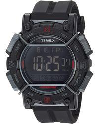 Timex Tw4b17900 Expedition Digital Cat 47mm Black/negative Resin Strap Watch