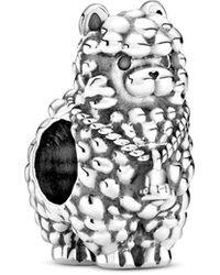 PANDORA Charm a forma di fiamma in argento - Metallizzato