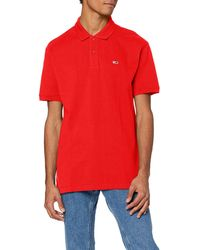 Tommy Hilfiger Tjm Classics Solid Stretch Polo Shirt - Red