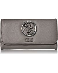 Guess Tara Small Grain Slim Clutch Wallet Geldbörse - Grau