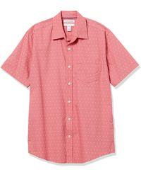 Amazon Essentials Regular-Fit Short-Sleeve Shirt Camicia - Rosa