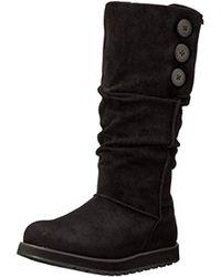 Skechers Keepsakes-big Button Slouch Tall Winter Boot - Black