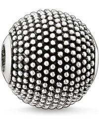 Thomas Sabo S s-Bead Népal Karma Beads Argent Sterling 925 noirci K0067-001-12 - Métallisé
