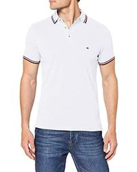 Tommy Hilfiger Tommy Tipped Slim Polo - Blanc