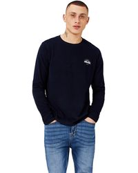 HIKARO Amazon Brand - Men's T-shirt, Multicolour (gingham Black / Gingham Red), M, Label:m - Blue