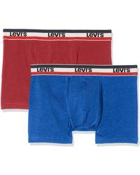Levi's Levis 200sf Sprtswr Logo Color Boxer Brief 2p - Bleu