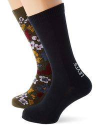 Levi's Flower All-Over Print Regular Cut Socks - Noir