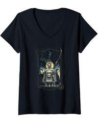 Dune Character Portrait T-Shirt avec Col en V - Noir