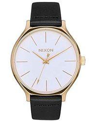 Nixon Analoger Quarz Uhr mit Edelstahl Armband A1250-1964-00 - Schwarz