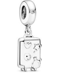 PANDORA - Silver Bead Charm 797887en160 - Lyst