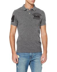 Superdry Classic Superstate S/s Polo - Gris