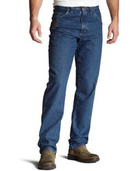 Wrangler Riggs Workwear Relaxed Fit Jean,antique Indigo,32x32 - Blue