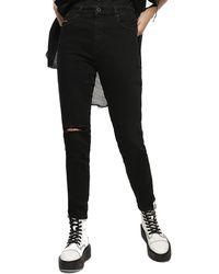 DIESEL Babhila-high 084zn Jeans Skinny Slim - Black