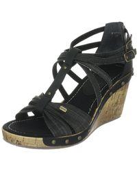 Esprit Alis Wedge Sandal E10320 - Noir