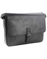 "Kenneth Cole Reaction Single Gusset Flapover 15"" Laptop Messenger Bag Laptop Messenger Bag - Black"