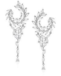 Nina - Jewelry Spring 2018 S E-catania Earrings, Rhodium/white Cz - Lyst