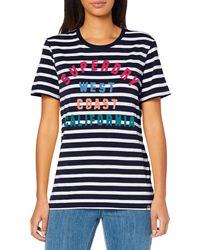 Superdry Camiseta a rayas West Coast - Azul