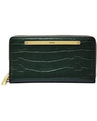 Fossil Liza Zip Around Clutch Spruce - Vert