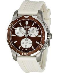 Victorinox Alliance Chronograph Brown Dial Ladies Watch