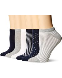 Amazon Essentials 6-pack Casual Low-cut Socks - Blue