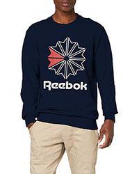 Reebok Sport French Terry Big Iconic Crewneck DM5157 641357 - Blau