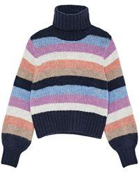 Pepe Jeans Pullover MARGOTTE mischfarben L - Blau