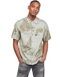 G-Star RAW Bristum Straight Short Sleeve Camisa - Gris