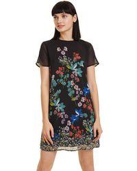 Desigual Loretha Mini Short Sleeve Dress - Black