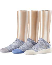 Esprit Active, Calzini alla Caviglia Donna, Multicolore (Powder Blue 7346), 36/41 Pacco da 3