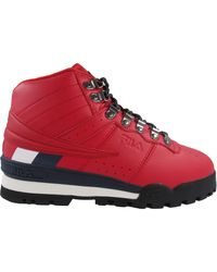 Fila S Fitness Hiker Mid Boot,Red/Navy/White,9.5 - Rouge