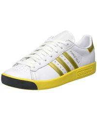 Adidas Originals Forest Hills White & Collegiate Green Trainer for men