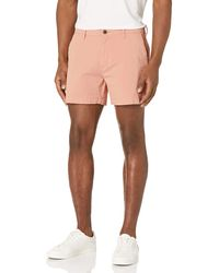 """Goodthreads Slim-fit 5"""" Inseam Flat-front Comfort Stretch Chino Shorts - Pink"""